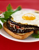 Eggplant Croque-madame toasted