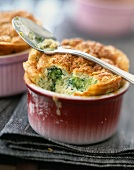 Broccoli and goat's cheese soufflé