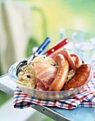 Sauerkraut and meats