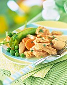 Tripe and spring vegetables