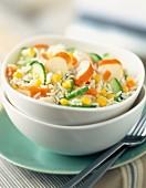 Surimi rice salad