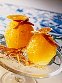 Confit oranges with dates and cinnamon