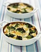 Broccoli and gruyere Clafoutis