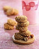 Quinoa biscuits with hazelnuts
