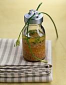 Dressing with orange,lemon and fresh herbs