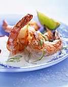 Prawns with coconut and lime
