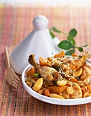 Chicken,sweet patato and grape tajine