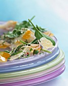 Spinach, haddock and sprouting seed salad