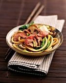 Beef sukiyaki (topic: Japanese cuisine)