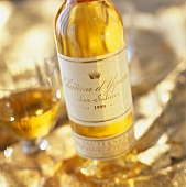Bottle of Chateau Yquem wine