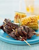 Beef Gremolata kebabs