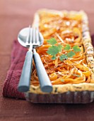 Carrot and ginger savoury tart