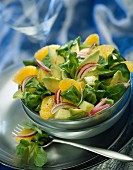 Avocado and clementine salad
