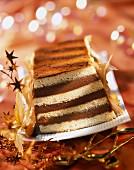 Chocolate praline and Cointreau log cake