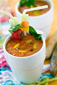 yellow pepper and basil gaspacho
