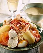 Sauerkraut with seafood