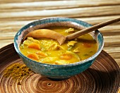 Chicken and curry soup