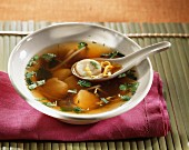 Asian scallop clear soup