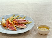 Red mullet fillets with aniseed and orange