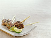 Cumin-flavored ground lamb brochettes
