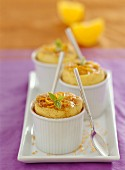 Orange iced soufflé