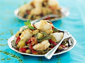 Monkfish with mixed vegetables