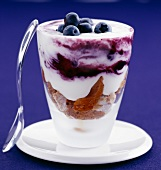 blueberry yoghurt and gingerbread