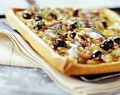 Pissaladière pizza-style onion tart