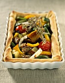 sweet-and-sour tart with grilled vegetables