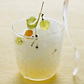 White wine and lime blossom granita