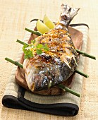 Iced sea bream with honey