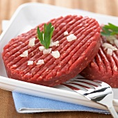 Raw hamburger