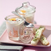 Coddled eggs with salmon