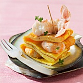 Langoustine prawn omelette