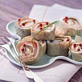 Salmon crepe rolls (topic: Brittany)