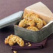 Pine nut Croissant biscuits