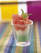 watermelon, mint and coconut granite