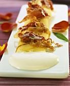 Fine potato omelet