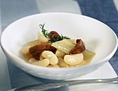 white bean, cardoon and sea urchin stew