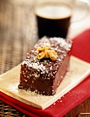 Chocolate and coconut turron