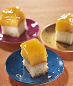 Peach cake squares