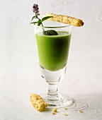 creamed pea and mint gaspacho (topic: Robuchon recipe)
