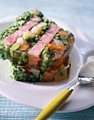 Ham and vegetable terrine