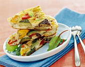 grilled vegetable omelette