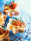 star-shaped salmon cocktail bites