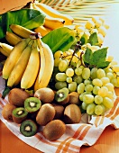 Bananas, kiwis and Italia grapes ,