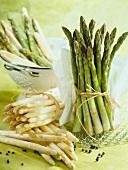 Assorted asparagus