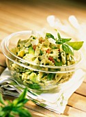 farfelle pasta and pesto salad