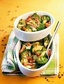 pan-fried country-style broccoli with bacon