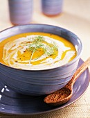 creamed fennel and pumpkin soup